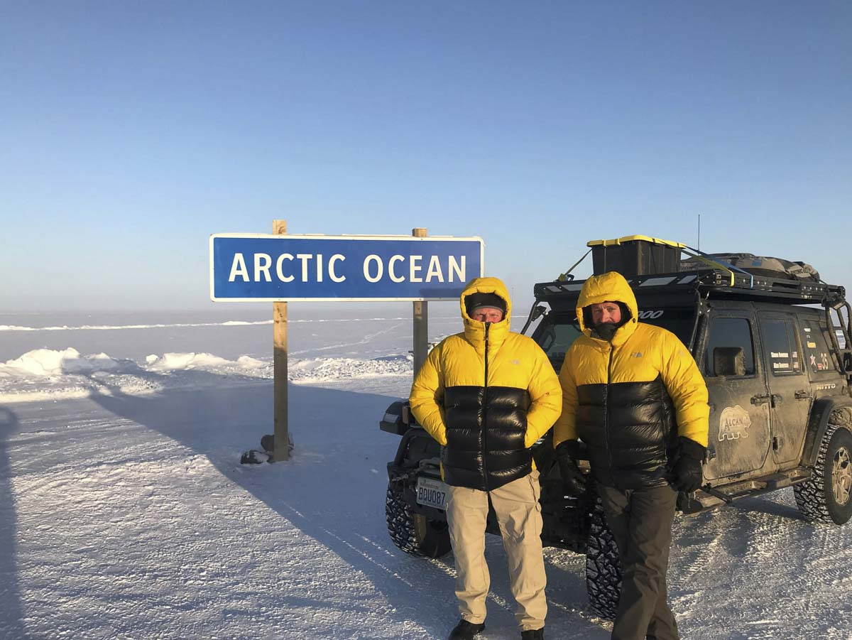 Temperatures reached negative 45 degrees Fahrenheit when Shane and Alan Bowman reached the Arctic Ocean at the end of their first leg of the Alcan 5000. Photo courtesy Shane Bowman