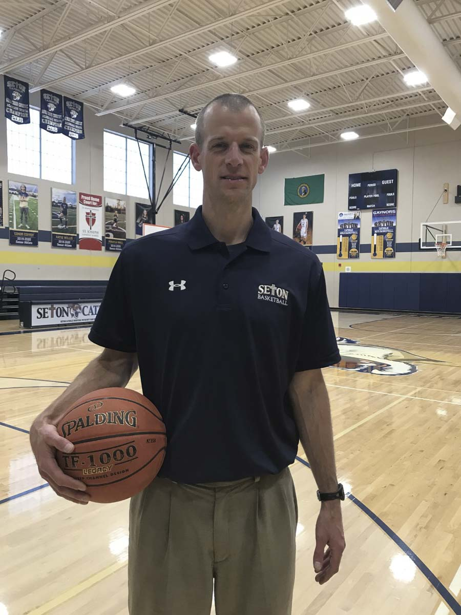 Aaron Jenniges is the new boys basketball coach at Seton Catholic. Photo courtesy Seton Catholic athletics