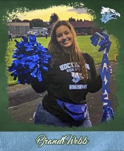 Brandi Webb is all-in for Hockinson High School, that student who seems to be at every extra-curricular event, showing off her school spirit. Photo courtesy Brandi Webb