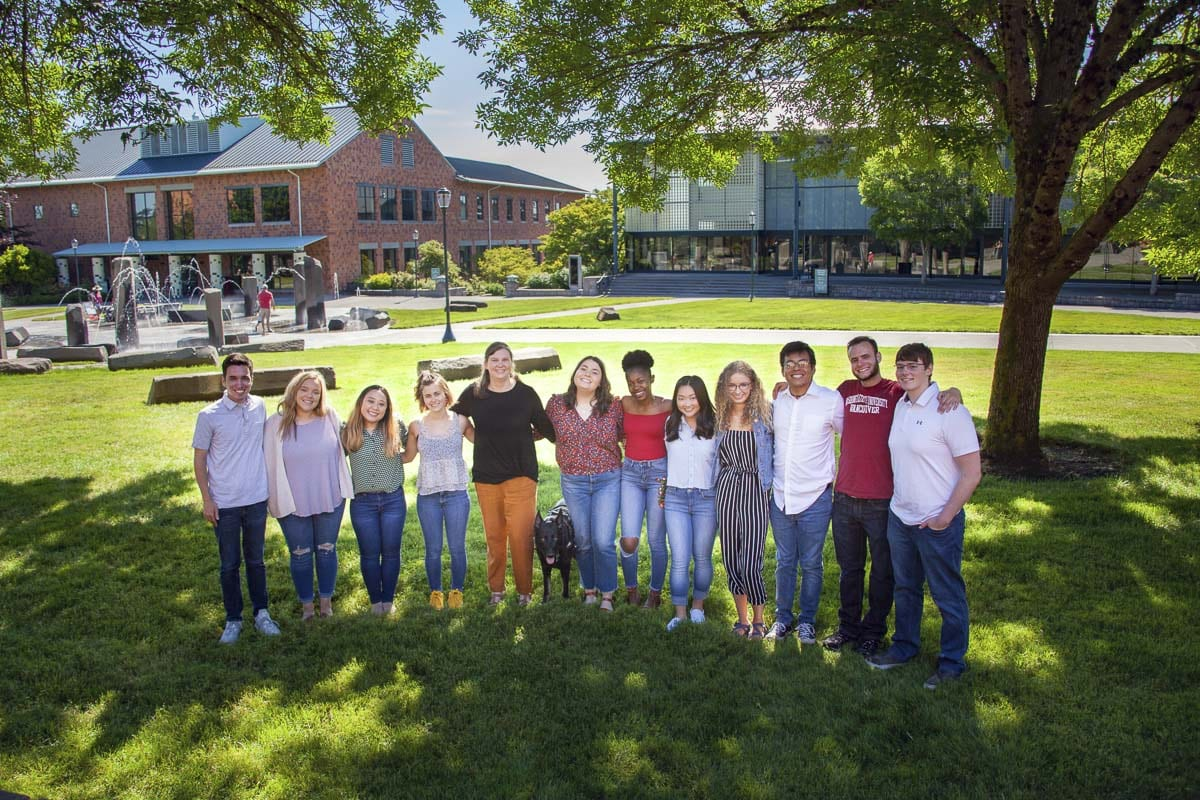 Vince Chavez (third from the right) poses here with the WSUV student ambassadors for 2019-20. Photo courtesy of WSUV