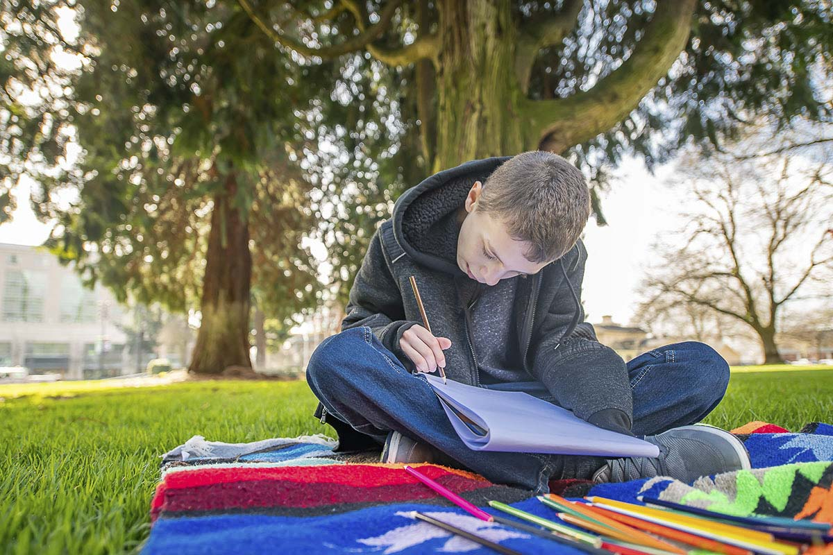 Letters to Trees encourages kids and adults to connect with their favorite local trees, including the city's protected Heritage Trees, noted for their size, cultural or historical importance, and significance, found in more than 30 locations throughout the city. Photo courtesy of city of Vancouver