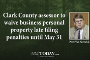 Clark County assessor to waive business personal property late filing penalties until May 31