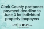 Clark County postpones payment deadline to June 3 for individual property taxpayers