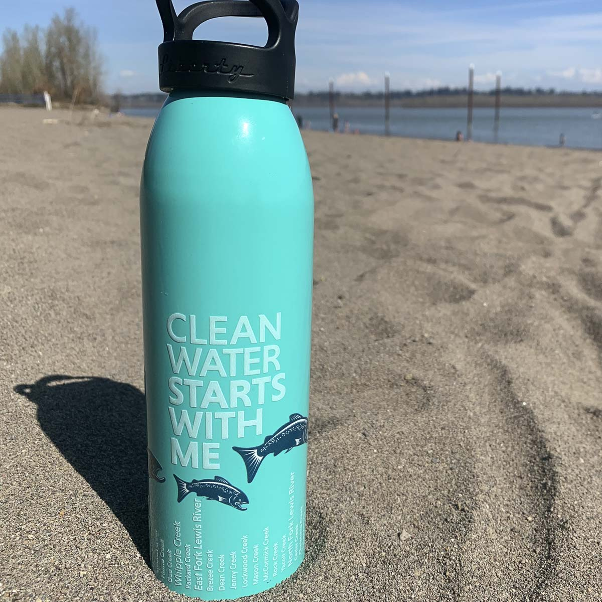 Participants completing each challenge will be entered to win a custom water bottle that highlights county streams and other prizes. Photo courtesy of Clark Co. WA Communications