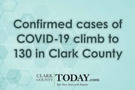 Confirmed cases of COVID-19 climb to 130 in Clark County