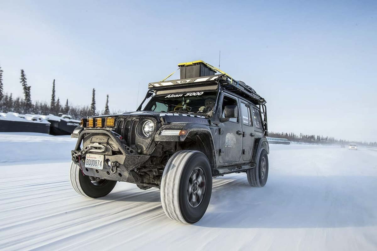 Shane and Alan Bowman drove their Jeep Rubicon over 5,000 miles through Canada and Alaska as part of the Alcan 5000 rally. Photo courtesy Andrew Snucins photography
