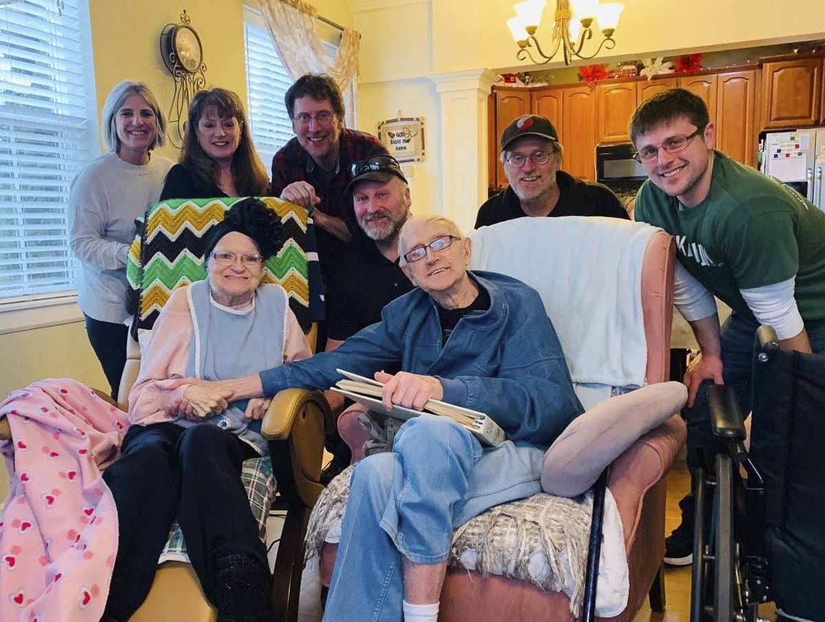 Dee Tofte's 85th birthday in February was the last time the couple's family was able to see them in person. Photo courtesy of Lori Kohler via Oregonlive.com