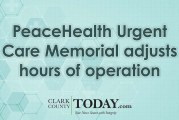 PeaceHealth Urgent Care Memorial adjusts hours of operation