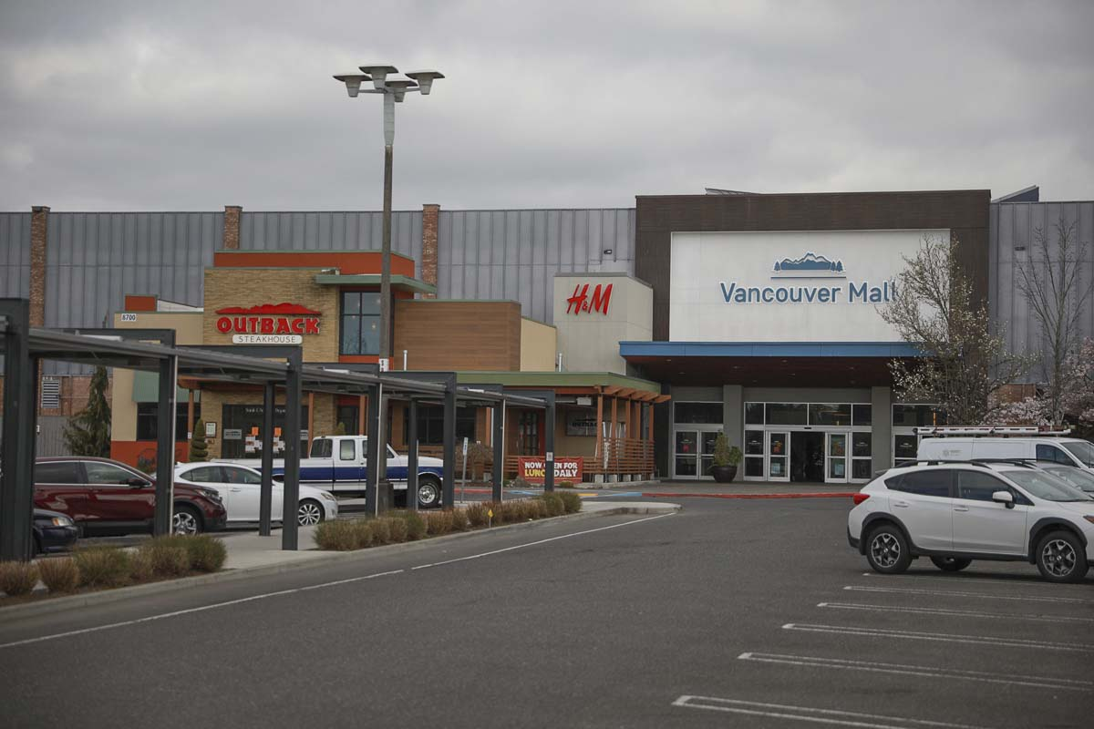 Vancouver Mall has been closed since March 27, but businesses say the owner, Centennial Real Estate, is requiring full rent payment. Photo by Jacob Granneman