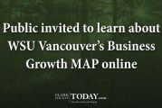 Public invited to learn about WSU Vancouver's Business Growth MAP online