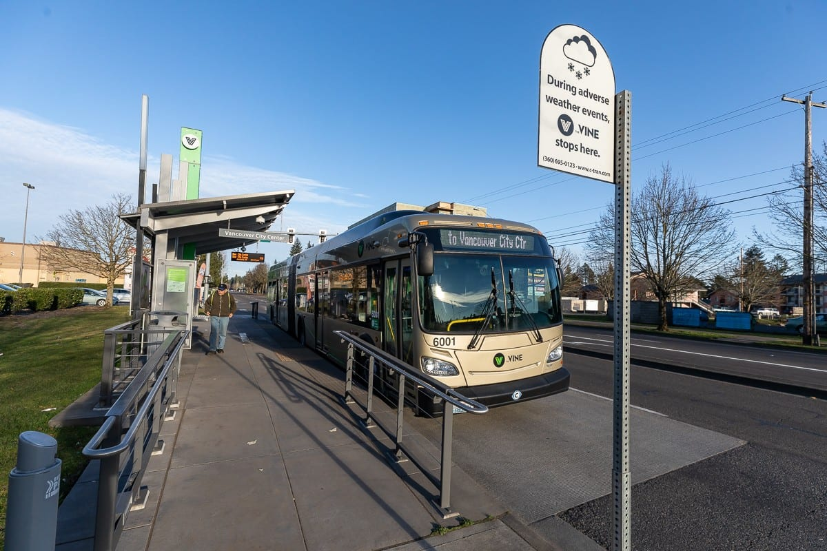 C-TRAN ridership is down 55.4 percent during the coronavirus pandemic, which officials of the agency say is the smallest decrease in Washington state. Photo by Mike Schultz