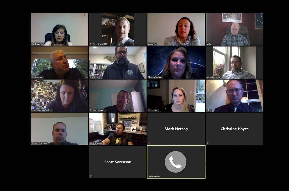 Battle Ground City Council met remotely this week using Zoom. Photo by Chris Brown