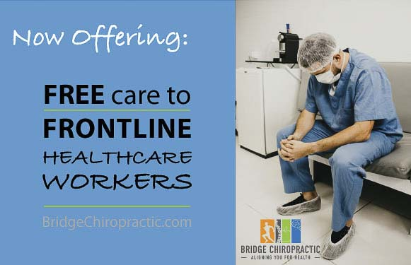 Through the end of this week, May 15, Bridge Chiropractic at all of its locations in Vancouver will be offering free adjustments and 30 days of care to frontline healthcare workers.