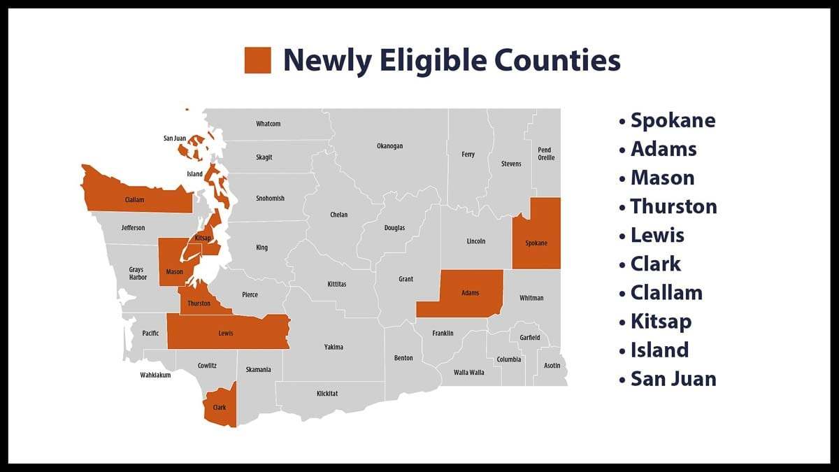 Clark County is on the list of a dozen Washington counties eligible to apply for a move to Phase 2 of reopening. Photo courtesy Washington Gov. Jay Inslee