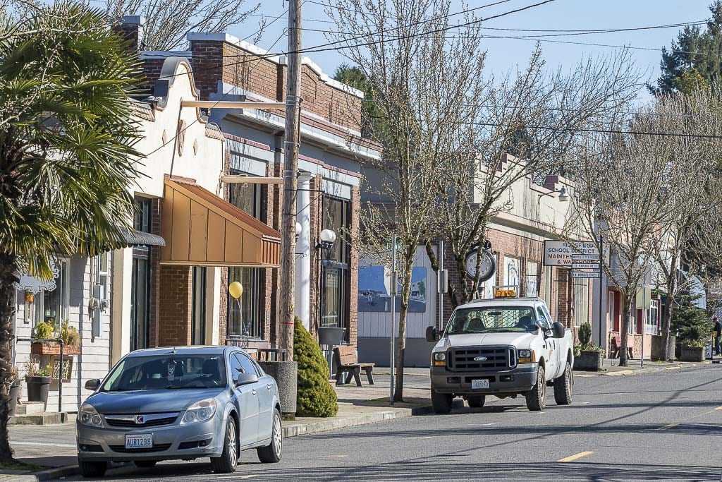 """The city of Ridgefield just launched a """"Shop Local and Save'' Program. The city is offering utility rebates on water bills for local receipts. Photo by Mike Schultz"""