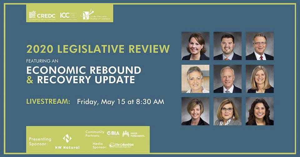 The Clark County delegation to the state legislature gathered online Friday for the 2020 Legislative Review and Economic Recovery Update, a webinar produced by the Greater Vancouver Chamber of Commerce in partnership with the Columbia River Economic Development Council and Identity Clark County.