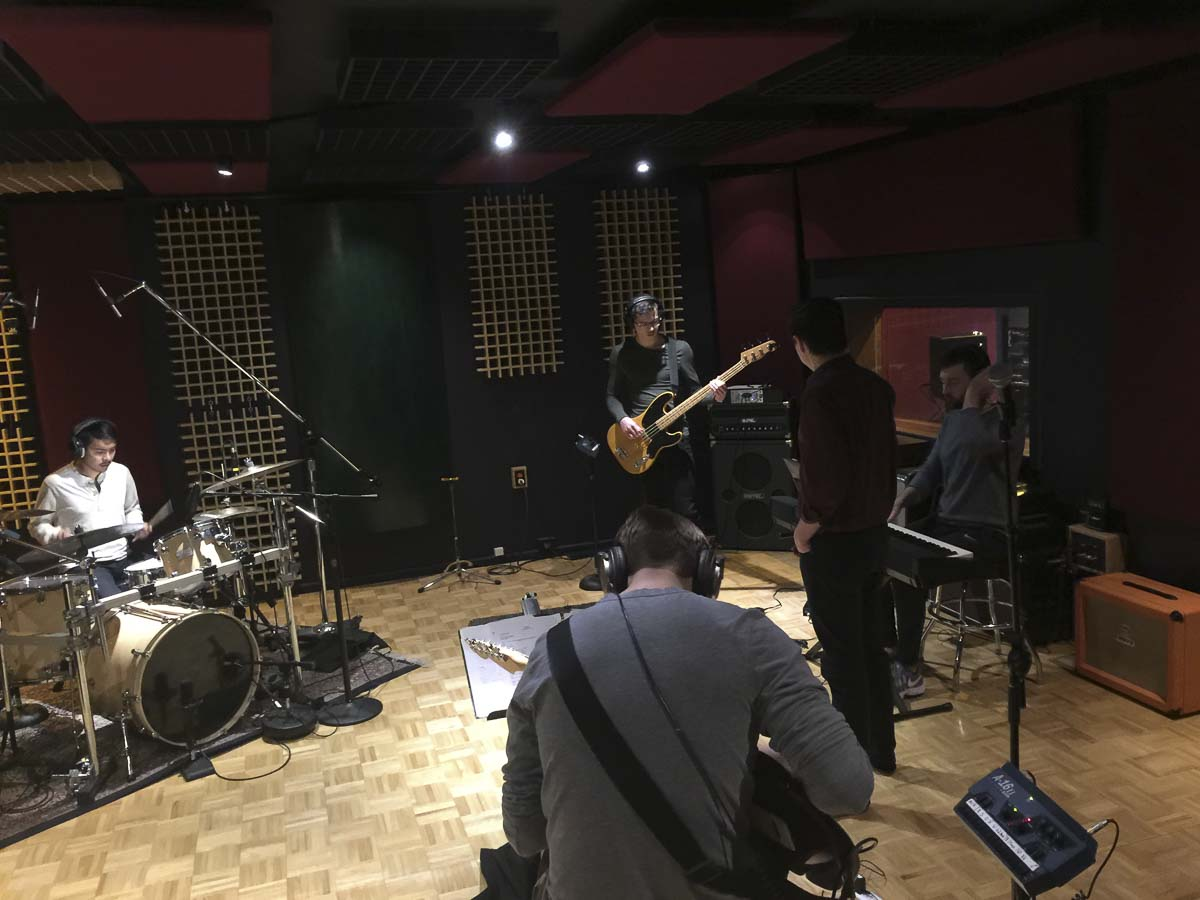 The Governors are seen here during a rehearsal prior to their first live performance in March. Photo courtesy of The Governors