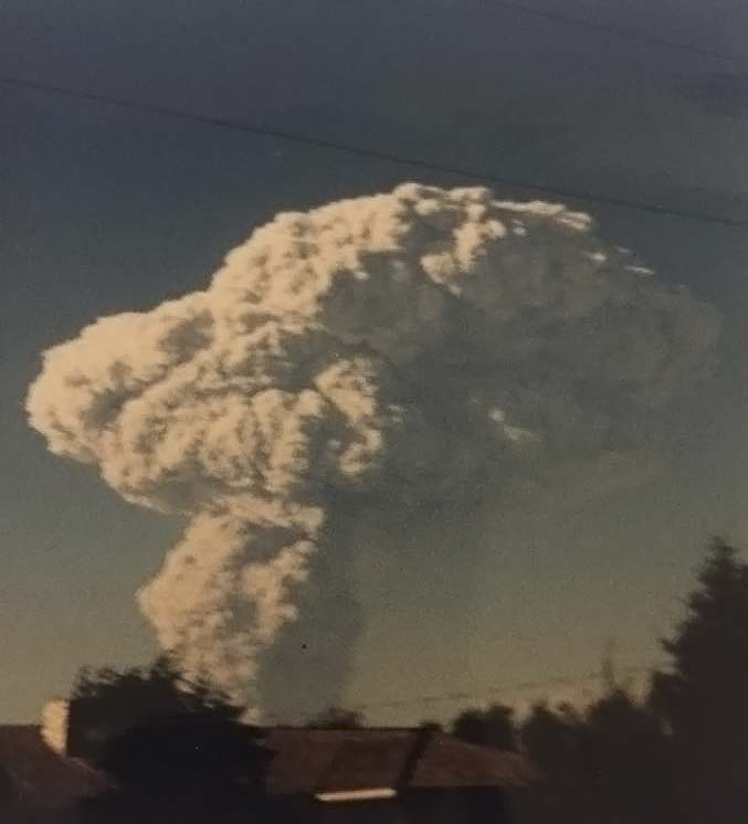 Clark County Today Administrator Heidi Wetzler took this photo of Mt. St. Helens erupting from Battle Ground at the age of 8. Photo courtesy of Heidi Wetzler