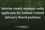 Interim county manager seeks applicants for Animal Control Advisory Board positions