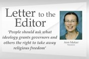 Letter: 'People should ask what ideology grants governors and others the right to take away religious freedom'