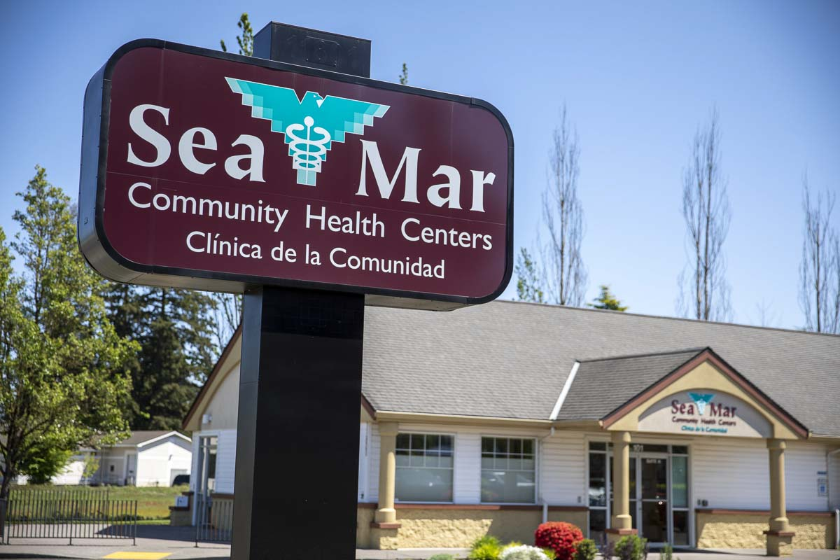 This Sea-Mar Clinic is across the street from an incoming marijuana retailer in Clark County. The location previously hosted a drug dependency clinic. Photo by Jacob Granneman