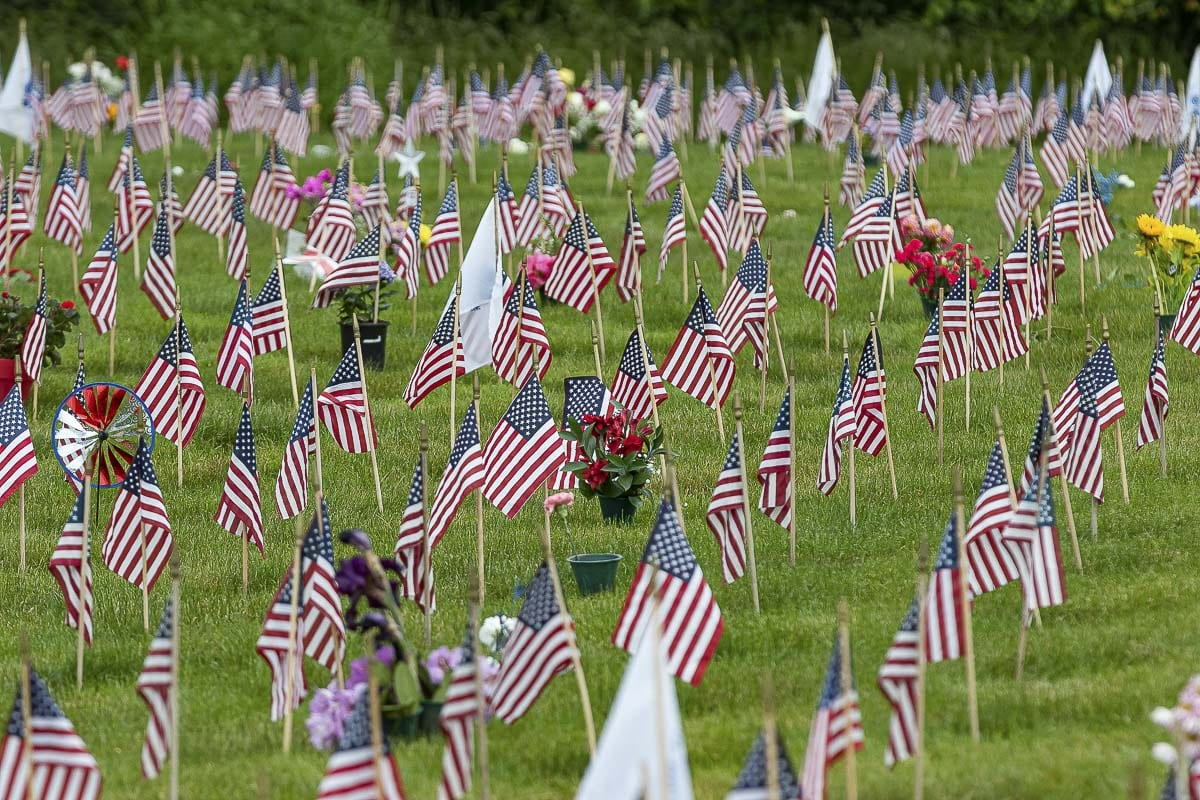Due to current CDC guidelines and the COVID-19 pandemic, public events typically associated with Memorial Day, such as ceremonies and group placement of flags at gravesites, will not take place at Willamette National Cemetery this weekend. Photo by Mike Schultz