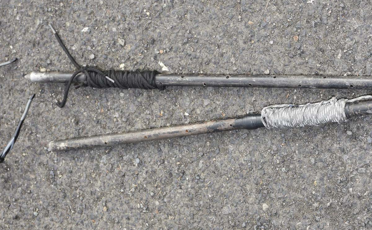 These are the weapons police officials report were in William Abbe's possession when he was shot by three Vancouver Police Department officers on April 28. Photo courtesy of Clark County Sheriff's Office