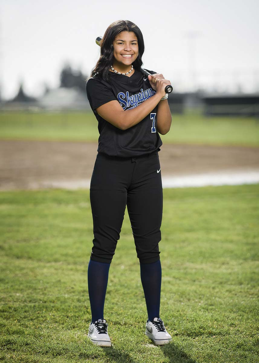 Mikelle Anthony of Skyview gave up a scholarship to play softball at UNLV in order to focus on her mental health. She plans to attend Washington State University to focus on her studies. Photo courtesy Curt Davis Photography