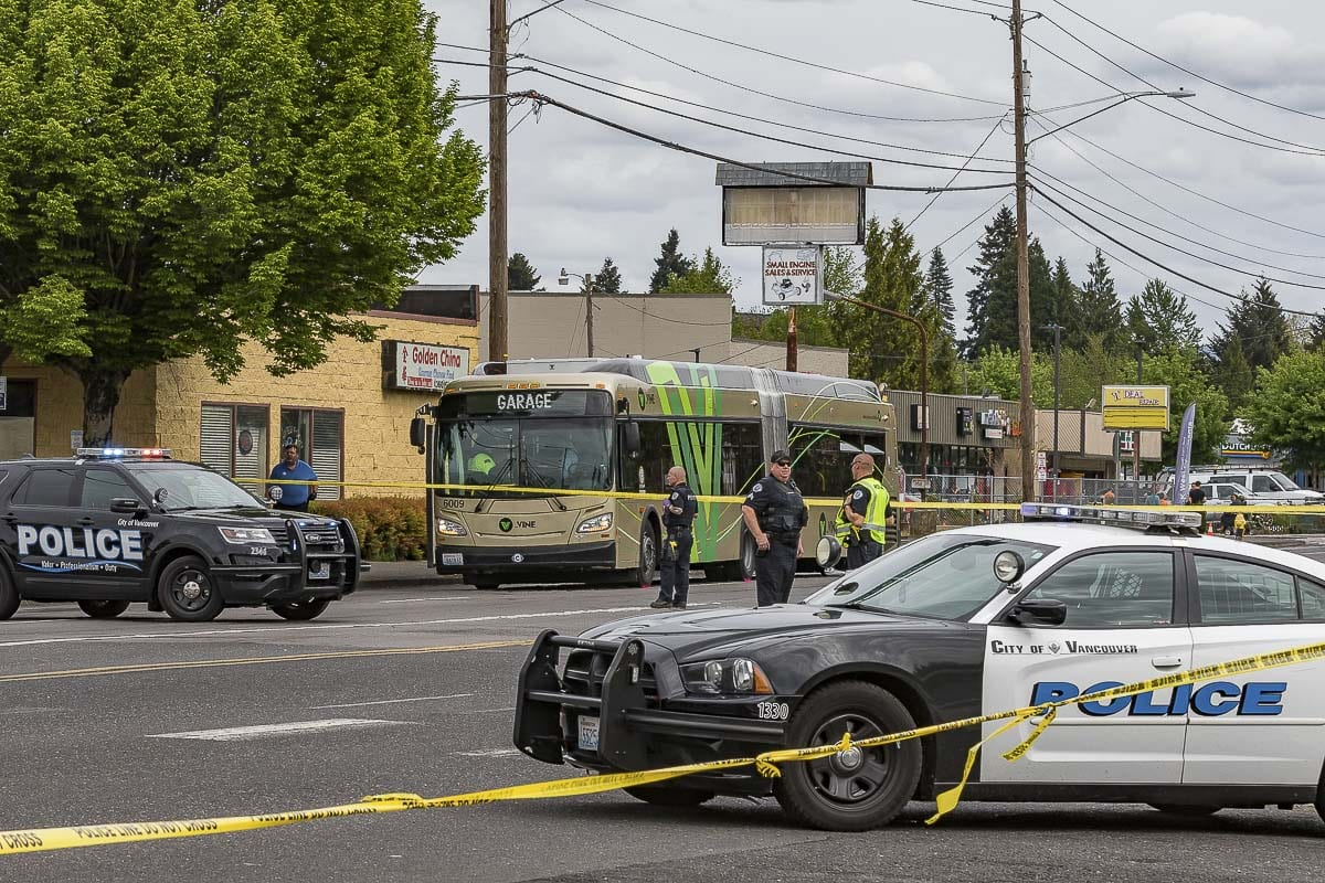 A 50-year-old Vancouver man died in an officer-involved shooting in the area of NE Stapleton Rd. and E. Fourth Plain Blvd. on April 28. The three Vancouver Police Department officers were identified Monday. Photo by Mike Schultz