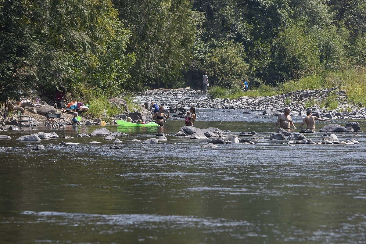 In addition to monitoring river conditions, Public Health officials urge people of all ages to follow these tips for safe swimming and recreating in all bodies of water. Photo by Mike Schultz