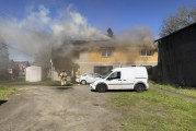 Exploding ammunition delays firefighter efforts to extinguish apartment fire
