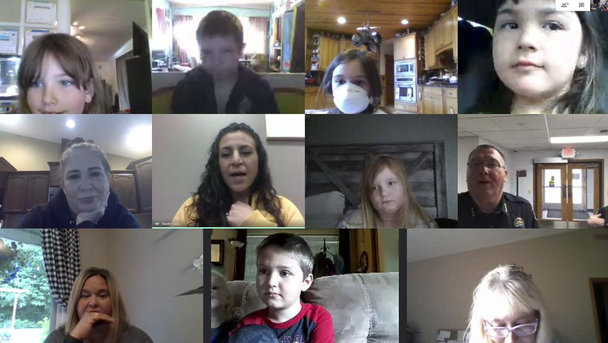 Sarah Taylor takes students on virtual field trips and offers them time to share to maintain the social aspects of school. Photo courtesy of Woodland Public Schools