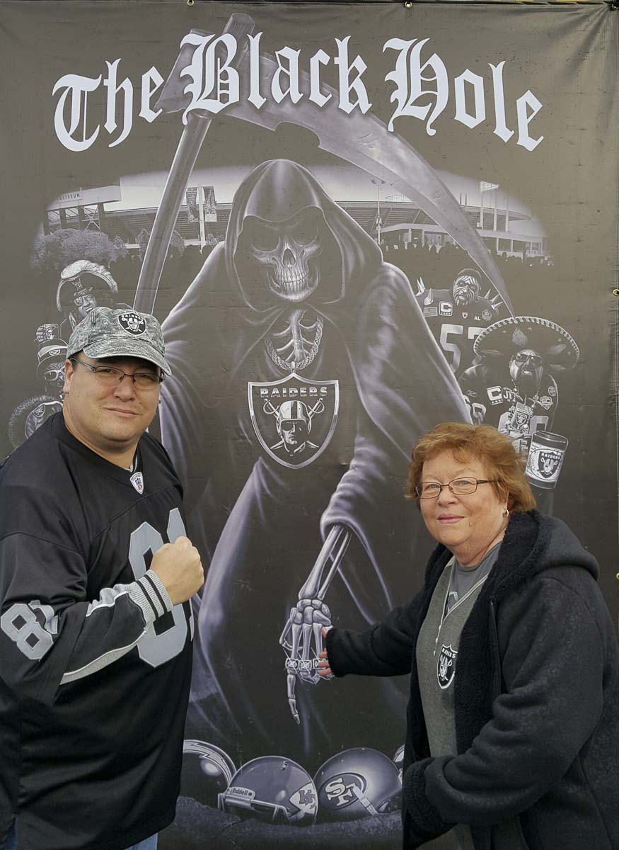 Jody Valencia was a nurse for more than 45 years before retiring in Vancouver and has been a Raider fan since the beginning of the franchise in 1960. Photo courtesy Jenny Valencia