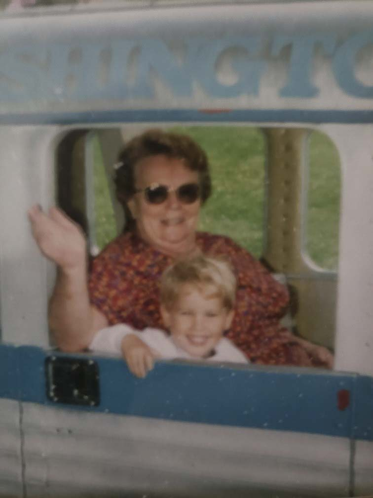 Donna Vance, mother of Clark County Today Editor Ken Vance, is shown here with her grandson Joseph Vance on the Zoo Train at the Oregon Zoo. Photo courtesy of Ken Vance