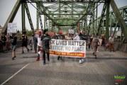 Protesters block traffic on Interstate Bridge