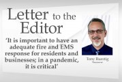 Letter: 'It is important to have an adequate fire and EMS response for residents and businesses; in a pandemic, it is critical'