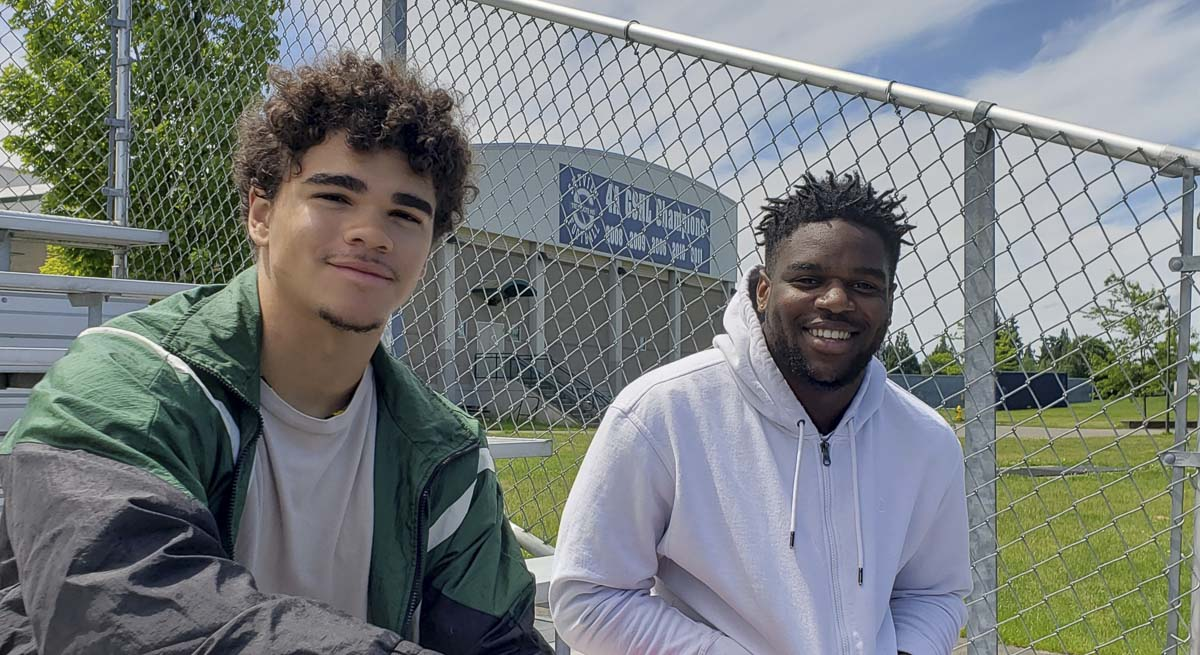 Ahmani Williams and Jalynnee McGee, two young African American men, agreed to sit down to talk about their experiences with race and offered advice to help find solutions to race relations. Photo by Paul Valencia