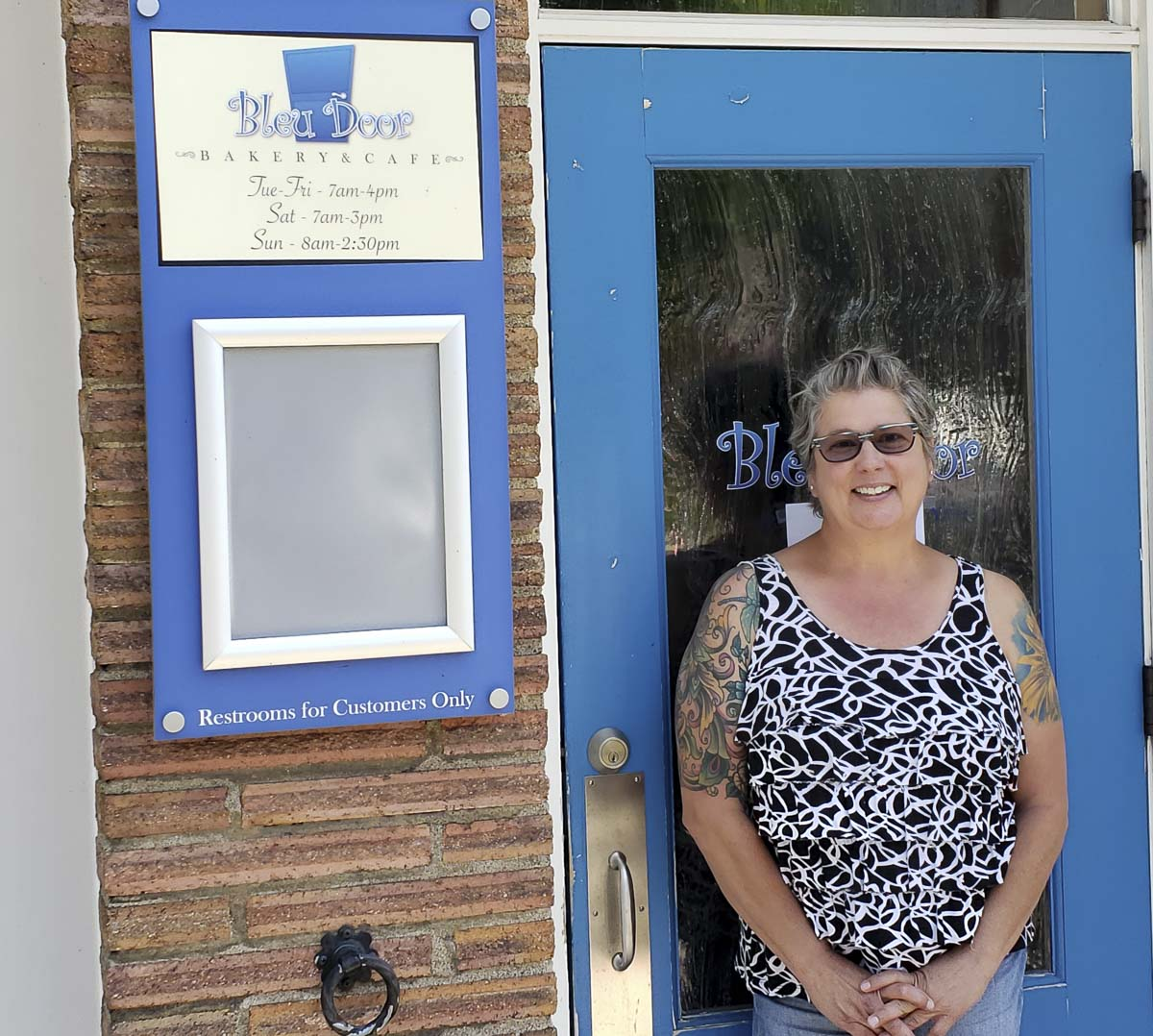 Bonnie Brasure will reopen the express side of Bleu Door Bakery on June 9. She has been feeding those in need in our community during the pandemic. Photo by Paul Valencia