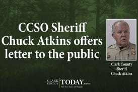 CCSO Sheriff Chuck Atkins offers letter to the public