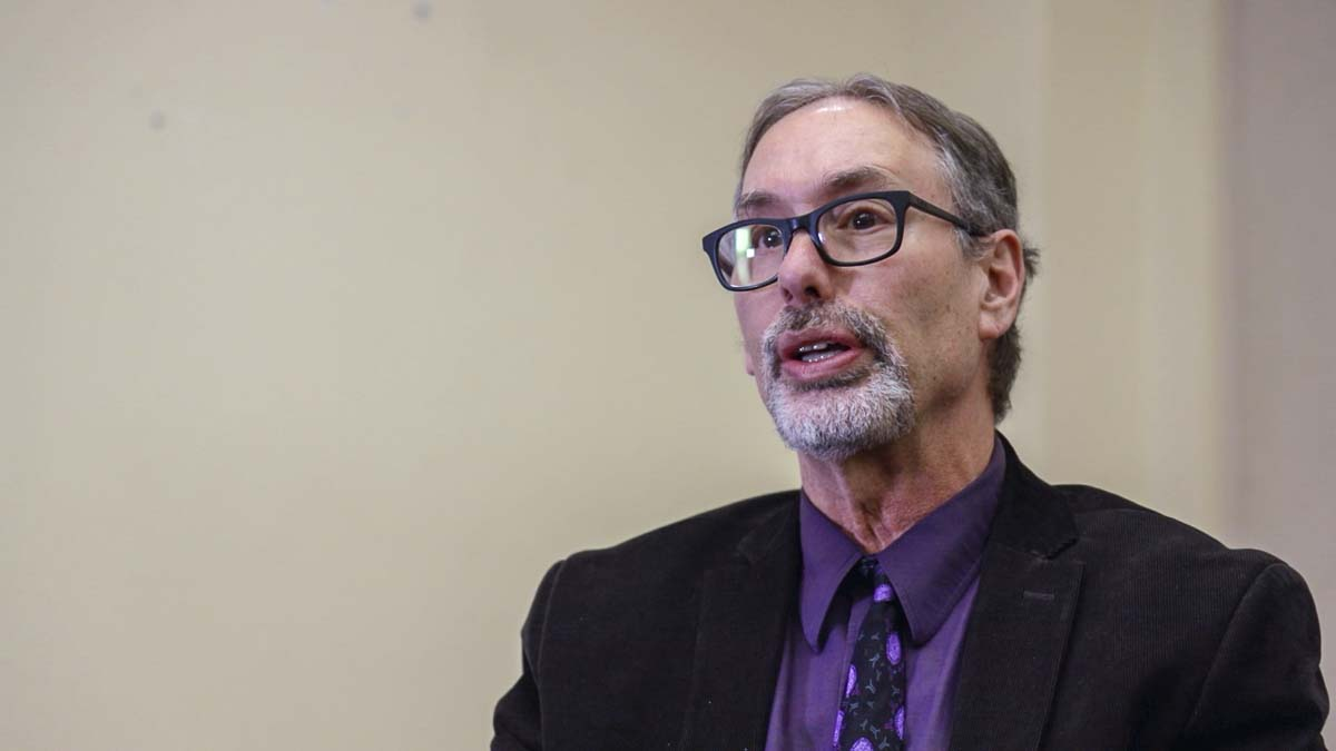 Clark County Public Health Officer Dr. Alan Melnick during an interview in March. Photo by Chris Brown