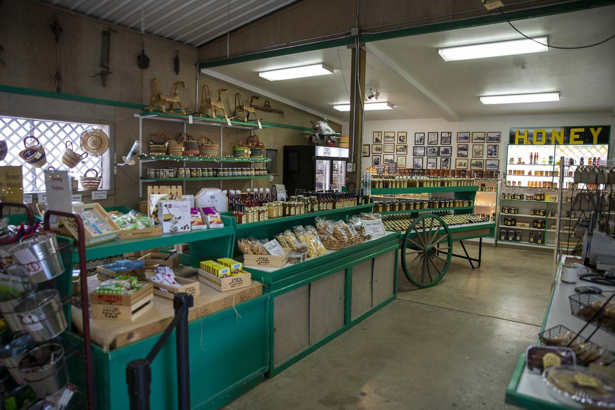 The farm store sells local produce and goodies created on the farm. Photo by Jacob Granneman