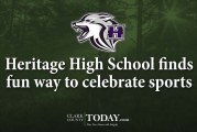 Heritage High School finds fun way to celebrate sports