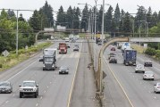 Work begins to convert southbound shoulder of I-5 in Vancouver into bus-only lane