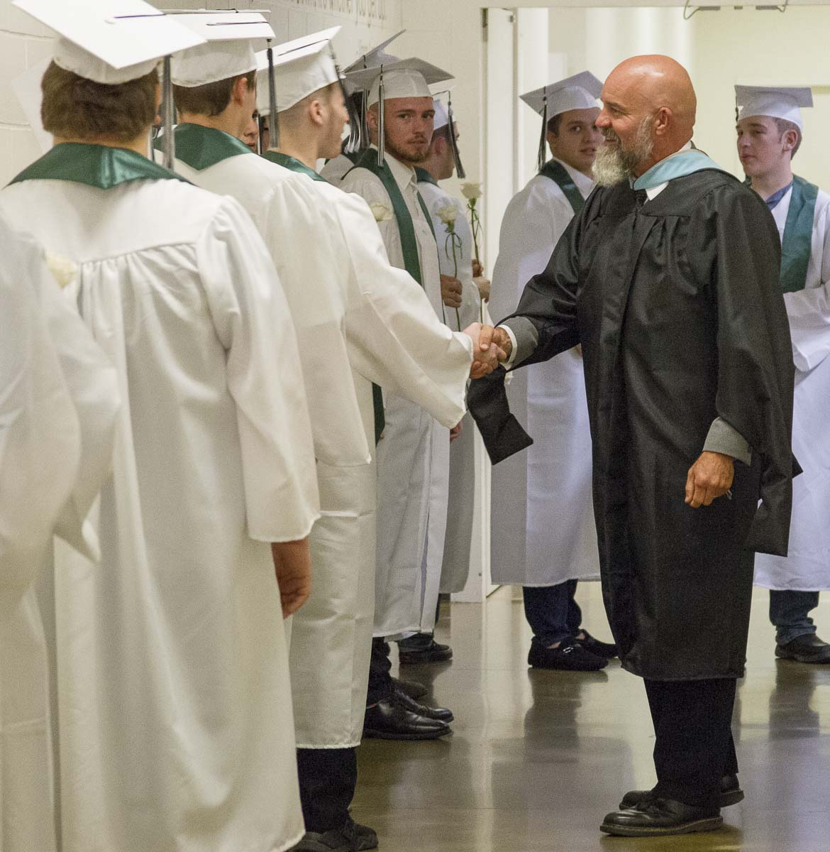 John Shoup made a practice of meeting, knowing, following up with, and caring about the students at his school. Photo courtesy of Woodland Public Schools