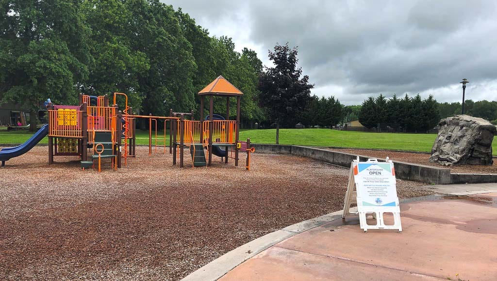 City of Battle Ground Public Works crews have taken care to sanitize play structures prior to reopening. The sanitizing process will occur twice weekly. Kiwanis Park is shown here. Photo courtesy of city of Battle Ground