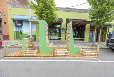 Parklets begin appearing in downtown Vancouver