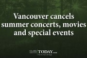Vancouver cancels summer concerts, movies and special events