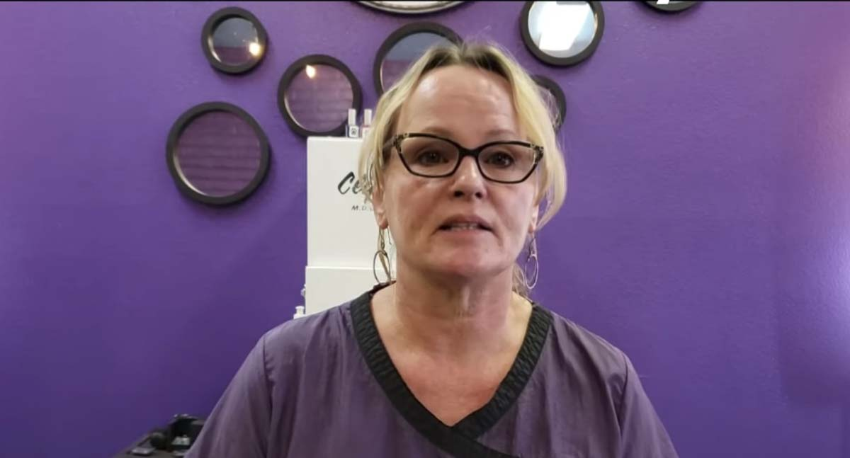 Kelly Carroll speaks in a YouTube video posted to a GoFundMe page set up to help keep her pet grooming business open. Photo courtesy Kelly Carroll