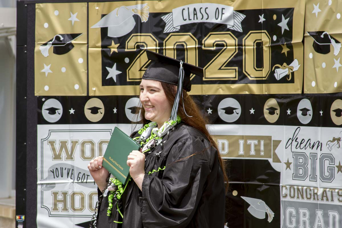 Justine Muldoon graduated from TEAM High School and walked in a special commencement ceremony on Sat., June 27. Photo courtesy of Woodland Public Schools