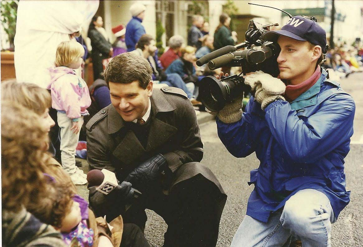Carl Click, shown here in his days with KGW, started in sports, moved to news with an emphasis on highlighting the best in people, and also was an anchor in more than 30 years in the broadcast industry. Photo courtesy of Click